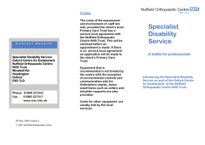 Specialist Costs