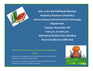 Join us for the Fall Book Review!