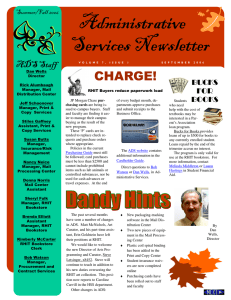 Administrative Services Newsletter
