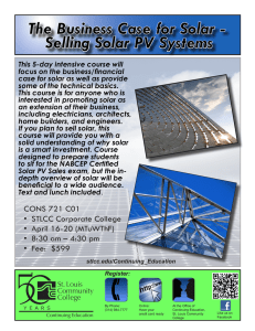 The Business Case for Solar - Selling Solar PV Systems