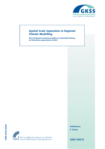 Spatial Scale Separation in Regional Climate Modelling GKSS 2005/9 9