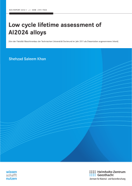 Low cycle lifetime assessment of Al2024 alloys