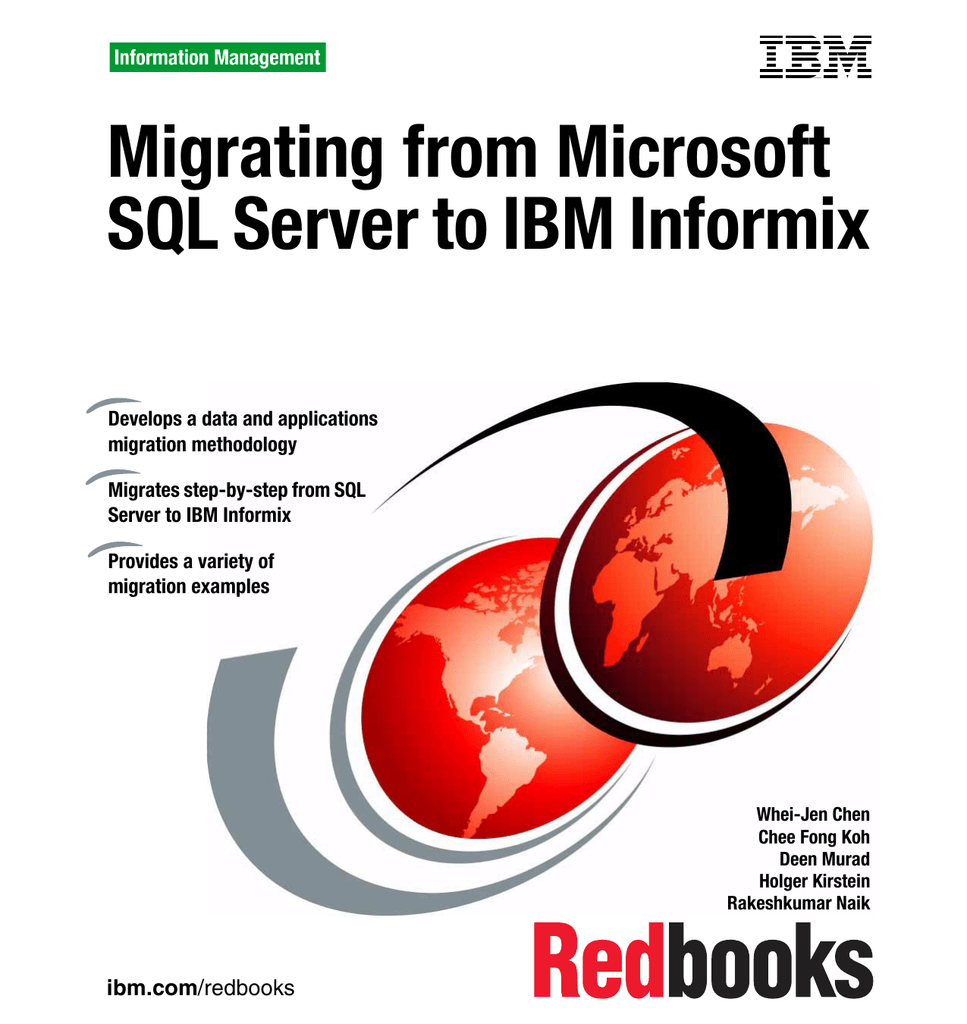 Migrating from Microsoft SQL Server to IBM Informix Front cover