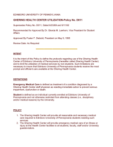 GHERING HEALTH CENTER UTILIZATION-Policy No. D011