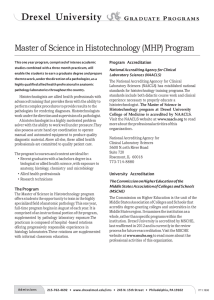 Master of Science in Histotechnology (MHP) Program