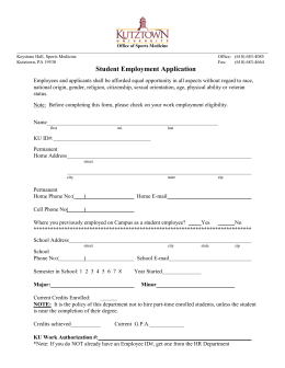 Student Employment Application