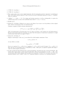 Physics 212 Spring 2010 Problem Set 4