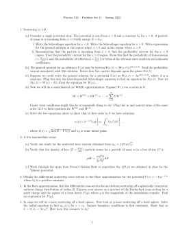 Physics 212 – Problem Set 11 – Spring 2010