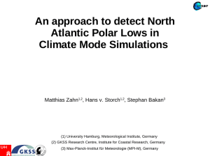 An approach to detect North Atlantic Polar Lows in Climate Mode Simulations