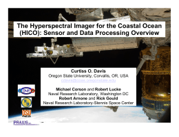 The Hyperspectral Imager for the Coastal Ocean Curtiss O. Davis