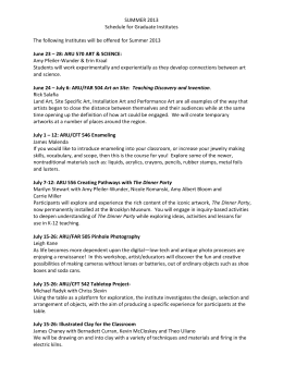 SUMMER 2013 Schedule for Graduate Institutes