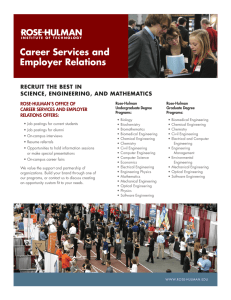 Career Services and Employer Relations RECRUIT THE BEST IN SCIENCE, ENGINEERING, AND MATHEMATICS