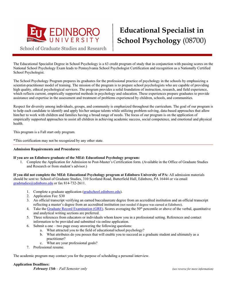 psychologist educational psychology specialist