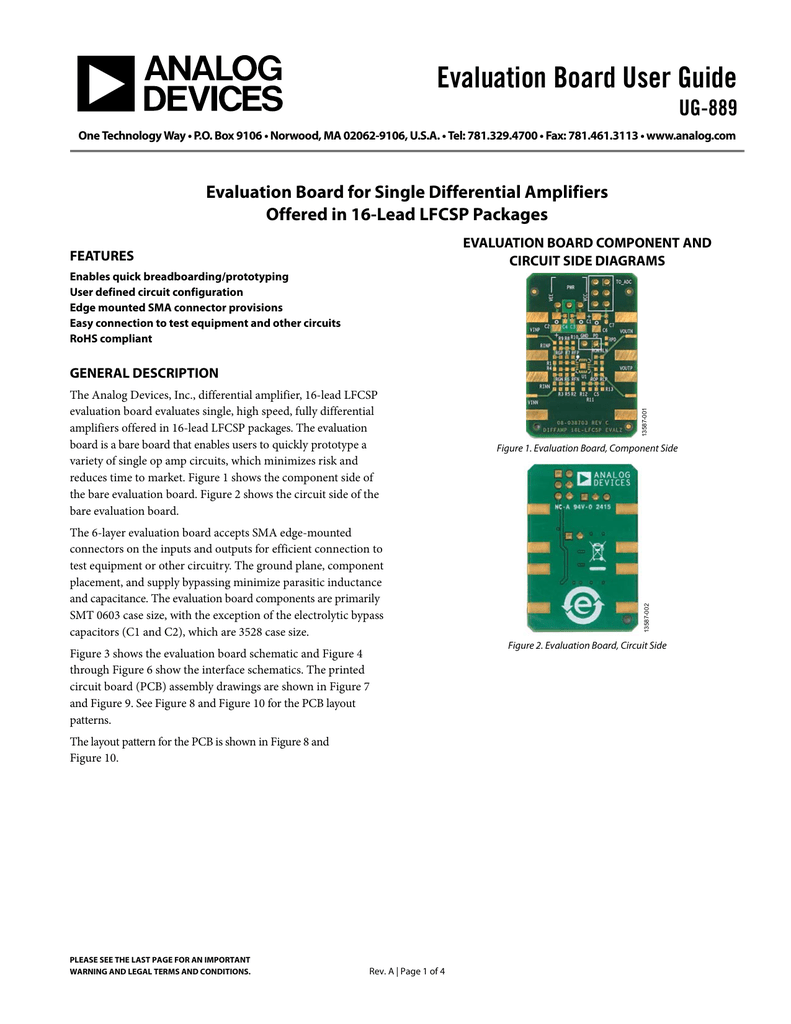 Evaluation Board User Guide Ug 889 Figure 2 The Components Layout Of This Circuit