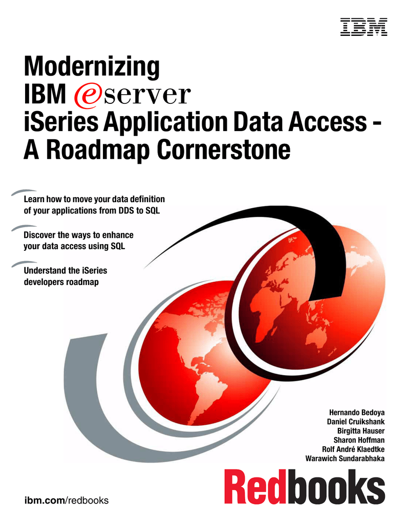 Modernizing IBM iSeries Application Data Access - A Roadmap