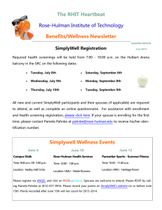 The RHIT Heartbeat Rose-Hulman Institute of Technology Benefits/Wellness Newsletter SimplyWell Registration