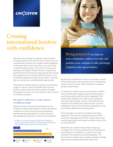 Crossing international borders with confidence Being prepared