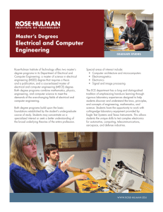 Electrical and Computer Engineering Master's Degrees
