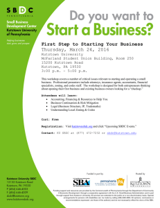 First Step to Starting Your Business Thursday, March 24, 2016