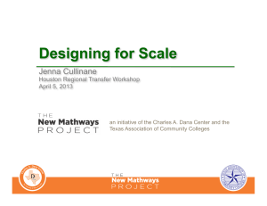 Designing for Scale Jenna Cullinane Houston Regional Transfer Workshop