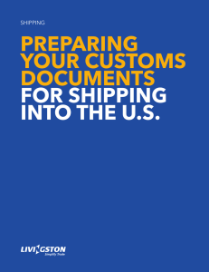 PreParing your customs documents