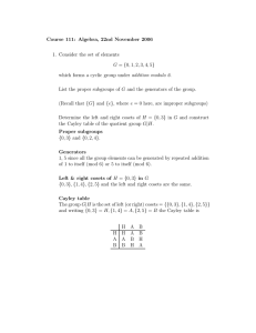 Course 111: Algebra, 22nd November 2006 G