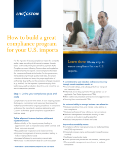 How to build a great compliance program for your U.S. imports Learn these