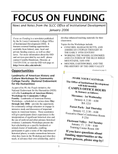 FOCUS ON FUNDING January 2006