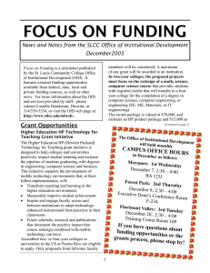 FOCUS ON FUNDING December2005