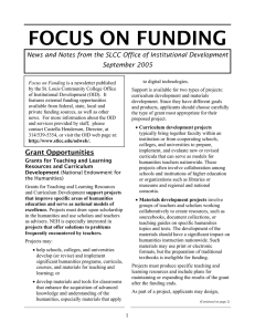 FOCUS ON FUNDING September 2005