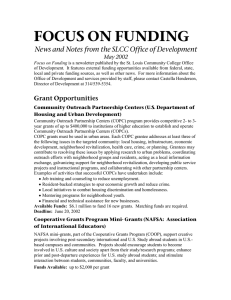 FOCUS ON FUNDING May 2002