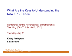 What Are the Keys to Understanding the New 6–12 TEKS?