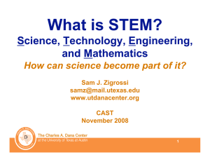 What is STEM? Science, Technology, Engineering, and Mathematics