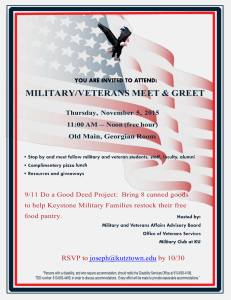 MILITARY/VETERANS MEET & GREET