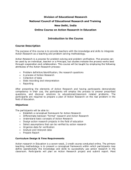 Division of Educational Research National Council of Educational Research and Training