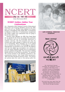 NCERT Golden Jubilee Year Celebrations A –S