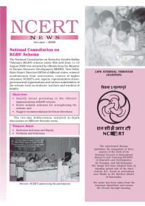 National Consultation on KGBV Scheme O – 2008
