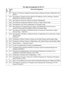 PAC approved programmes for 2012 PAC approved programmes for 2012----13