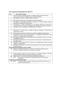 PAC approved Programme for 2014-15