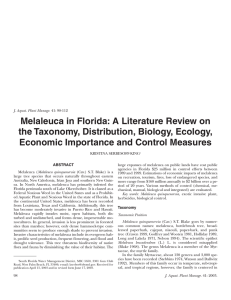 Melaleuca in Florida: A Literature Review on