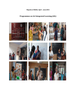 Programmes on Art Integrated Learning (AIL)