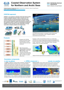 Coastal Observation System for Northern and Arctic Seas COSYNA approach
