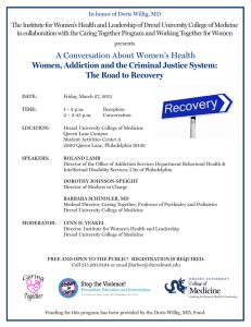 The Institute for Women's Health and Leadership of Drexel University... in collaboration with the Caring Together Program and Working Together...