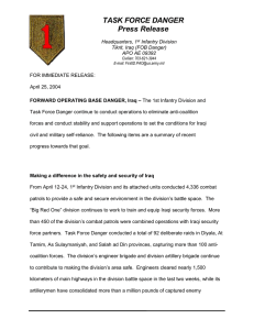 TASK FORCE DANGER Press Release