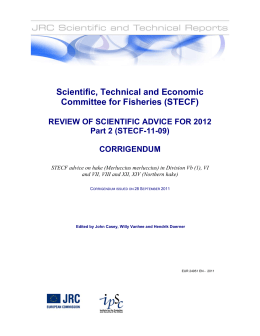 Scientific, Technical and Economic Committee for Fisheries (STECF)