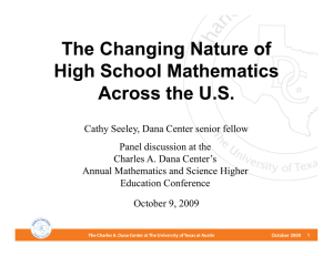 The Changing Nature of High School Mathematics Across the U.S.
