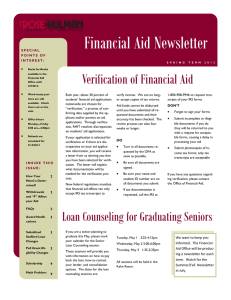 Verification of Financial Aid