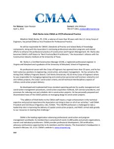 Walt Norko Joins CMAA as VP/Professional Practice