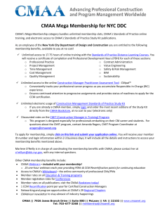 CMAA Mega Membership for NYC DDC