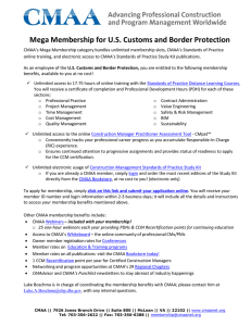 Mega Membership for U.S. Customs and Border Protection